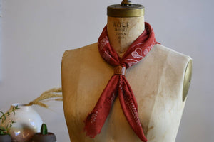 Natural Dye Botanical Print - Raw Silk Kerchief