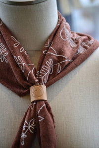 Natural Dye Leather Scarf Loops