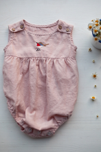 Load image into Gallery viewer, Embroidered Linen Baby Romper Ariel