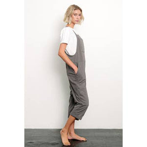Brushed Organic Hemp Relaxed Fit Overalls