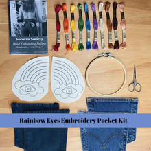 Load image into Gallery viewer, Rainbow Eye Pocket Kit and Project