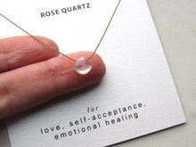 Load image into Gallery viewer, Rose Quartz Necklace Card