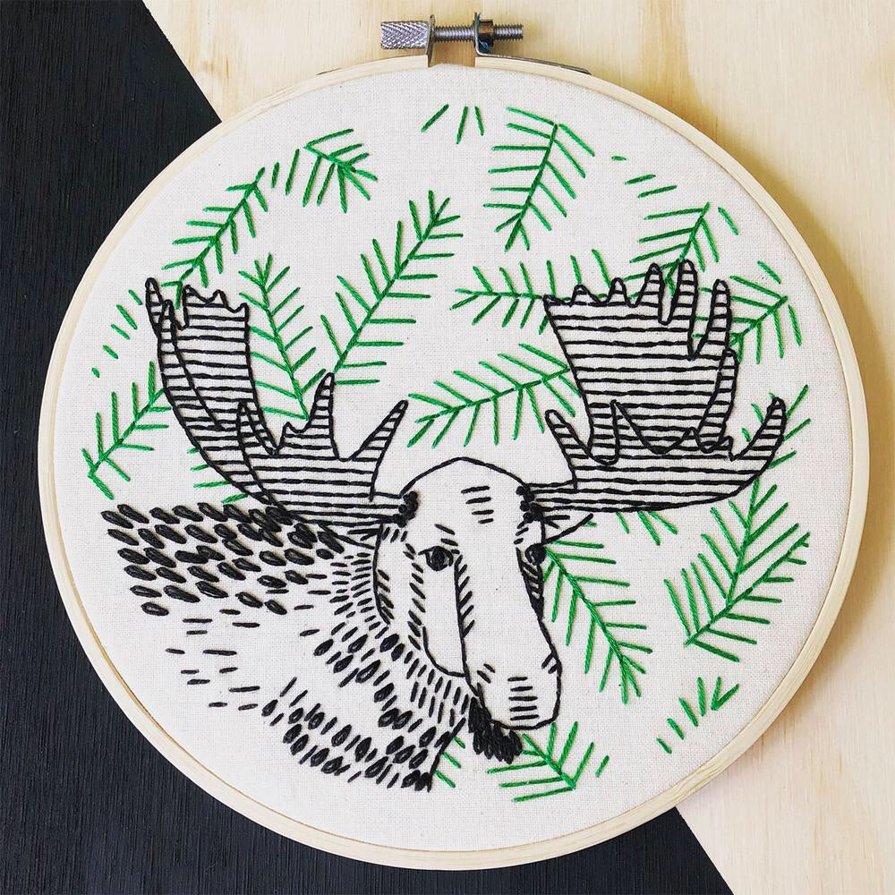 Moose on the Loose Embroidery Kit