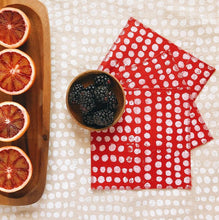 Load image into Gallery viewer, Julie Peach Linen Cocktail Napkins