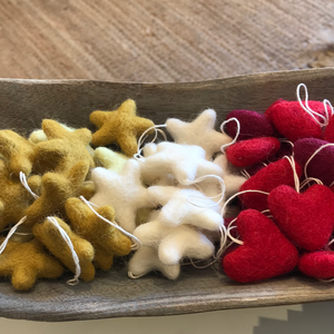 Single Felted Ornaments
