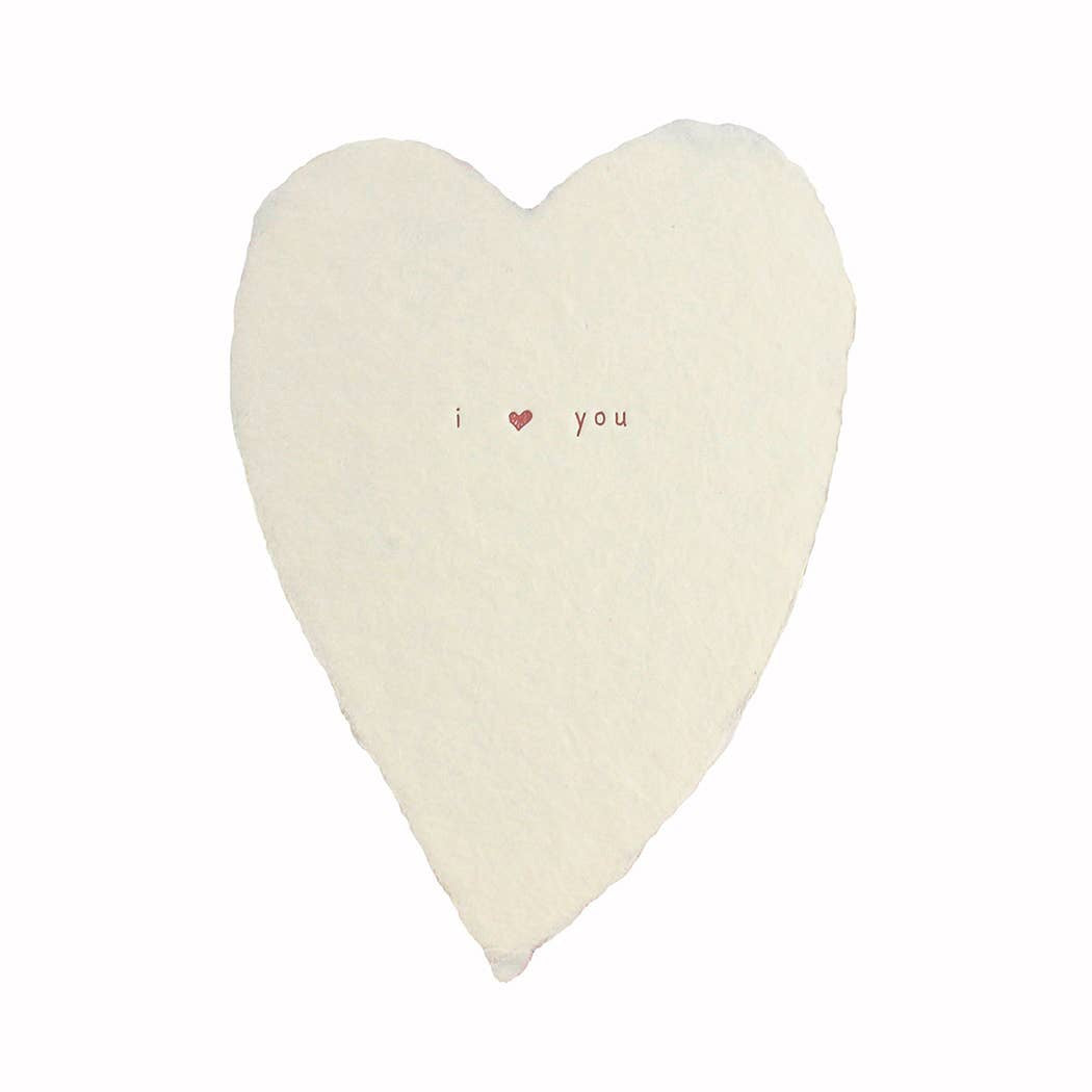 I Love You Greeted Heart Card