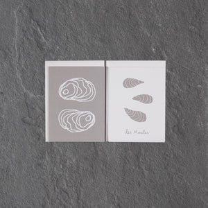 Double Oyster Greeting Card Pack of 6
