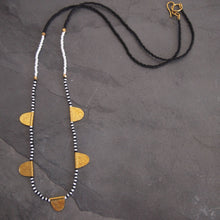 Load image into Gallery viewer, Mwezi Necklace: B & W