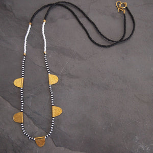Mwezi Necklace: B & W