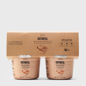 Public Goods Apple Cinnamon Oatmeal Cups