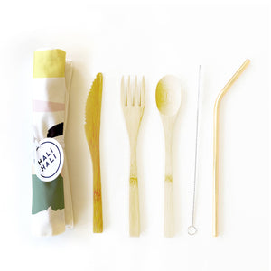 6 pc Eco Friendly Reusable Cutlery Set - Let's Party