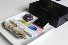 Load image into Gallery viewer, Healing Ritual Kit with Amethyst, clear quartz, selenite
