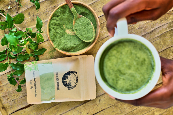 Easy 4 Ingredient Energizing Moringa Latte