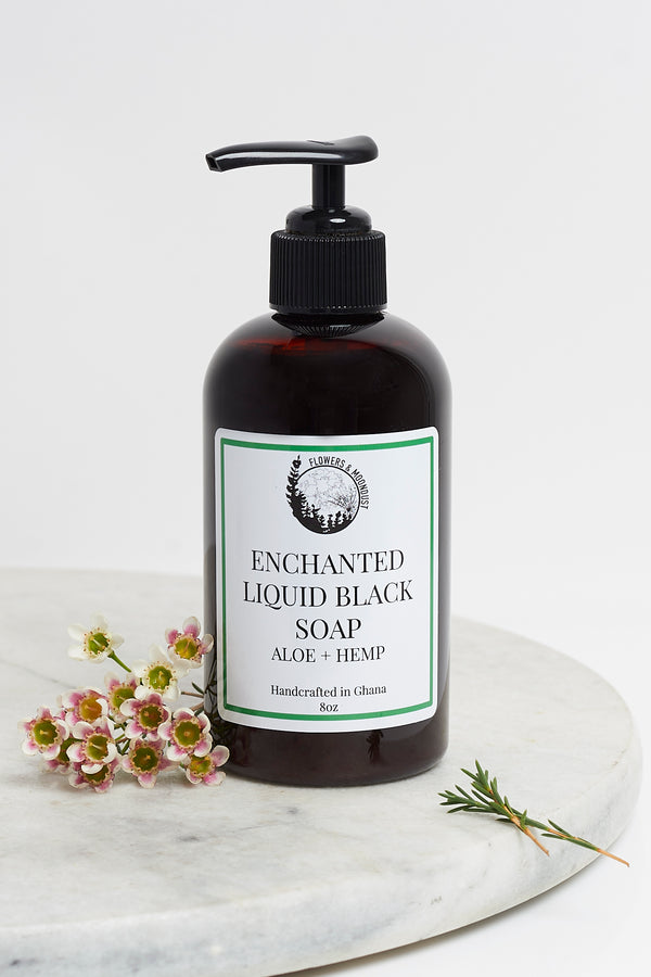 Enchanted Liquid Black Soap (Aloe + Hemp)