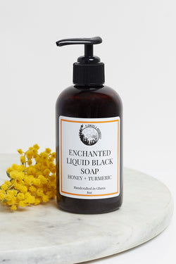 Enchanted Liquid Black Soap (Honey + Turmeric)