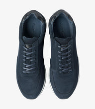 Load image into Gallery viewer, Bannister Navy Suede Mens Trainer by Loake - peters-notts