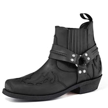 Load image into Gallery viewer, Old Crazy Biker Boot Black