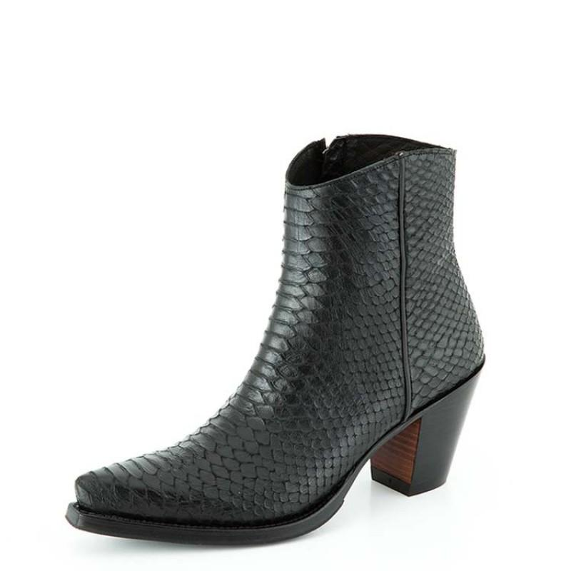 Blackshine Madrid Black Ankle Boot - peters-notts