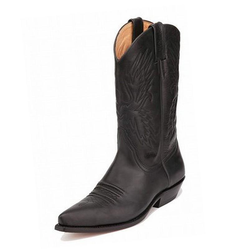 Boston Crazy Old Black Classic Boot - peters-notts