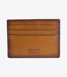 Sterling Card Holder Mens Chestnut Leather - peters-notts