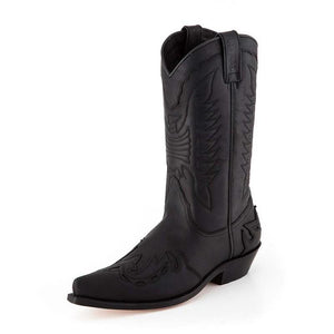 Crazy Old Black Traditionell Western Boot