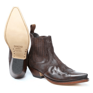 Brown Western Ankle Boot