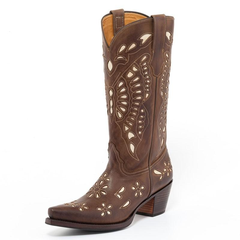 Natural Marron Western Boot - peters-notts