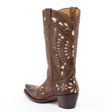 Load image into Gallery viewer, Natural Marron Western Boot - peters-notts