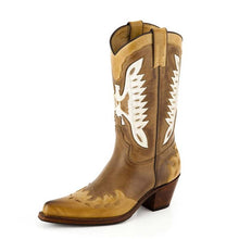 Load image into Gallery viewer, Nevada Stbu Taube/Vanilla Western Boot - peters-notts