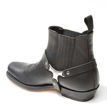 Load image into Gallery viewer, Pull Grass Black Urban Biker Ankle Boot
