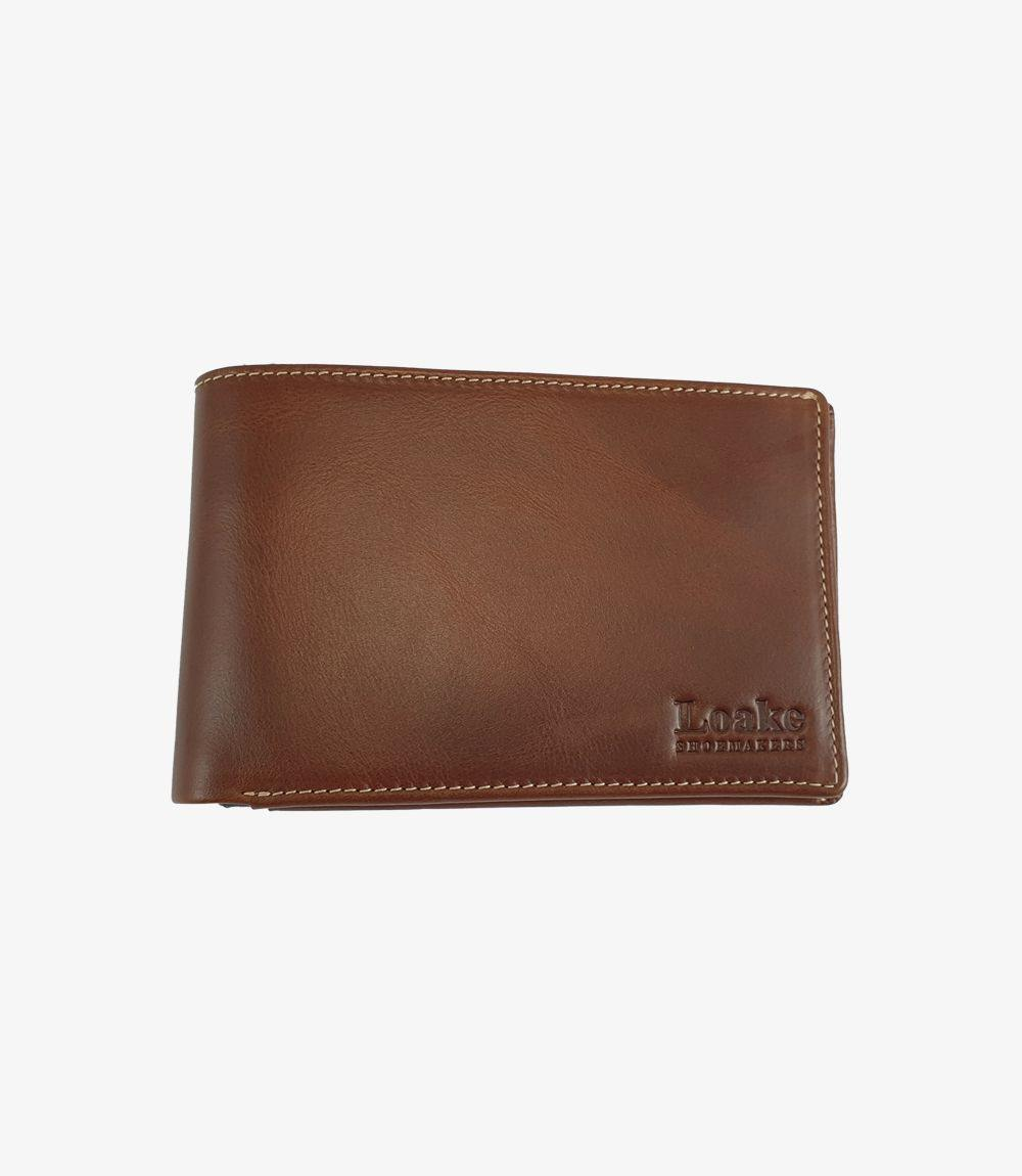 Loake Wallet Mens Tan Leather