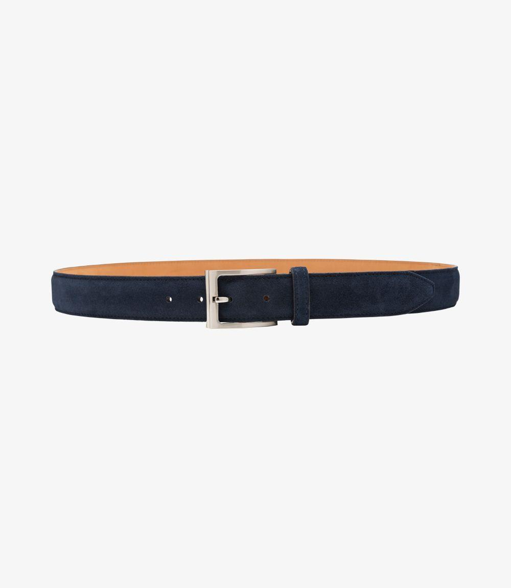 William Mens Belt Navy Suede - peters-notts