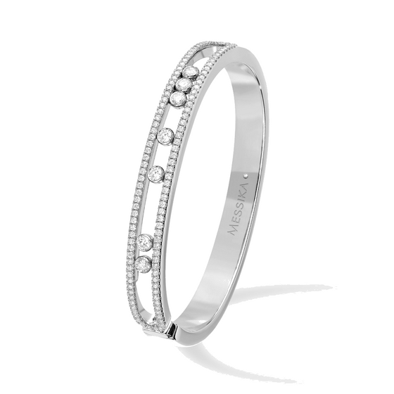 Bracelet Diamond White Gold Move Seven-band