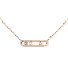 Necklace Diamond Pink Gold Move