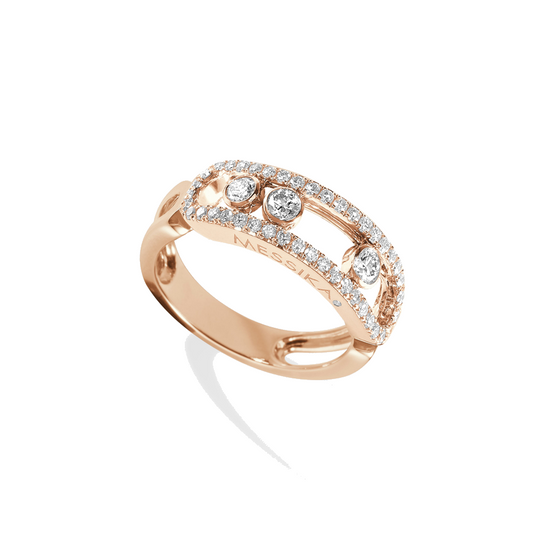 Ring Pink Gold Move Classic Pavé