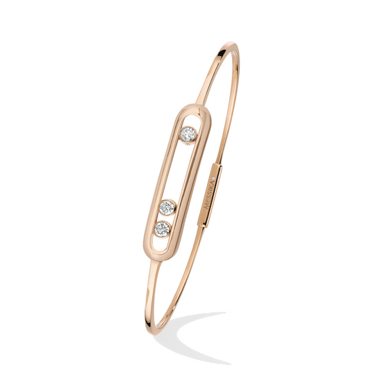 Bracelet Diamond Pink Gold Move Thin