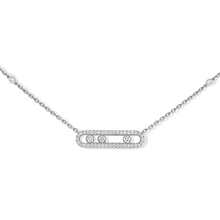 Necklace Diamond White Gold Baby Move Pavé