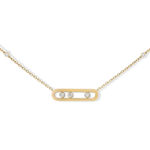 Necklace Diamond Yellow Gold Baby Move