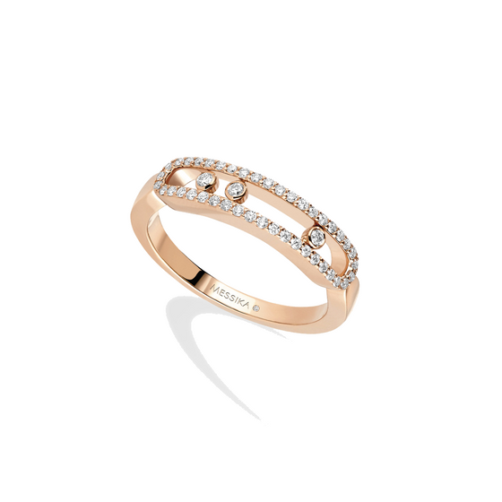 Ring Diamond Pink Gold Baby Move Pavé