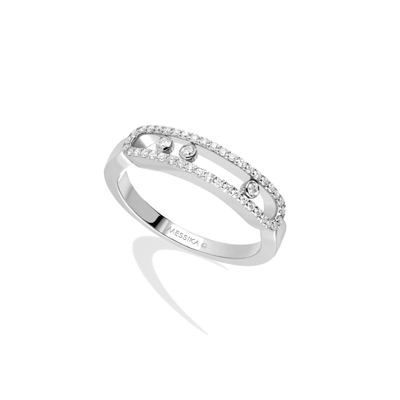 Ring Diamond White Gold Baby Move Pavé