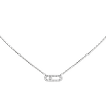 Necklace White Gold Move Uno Pavé