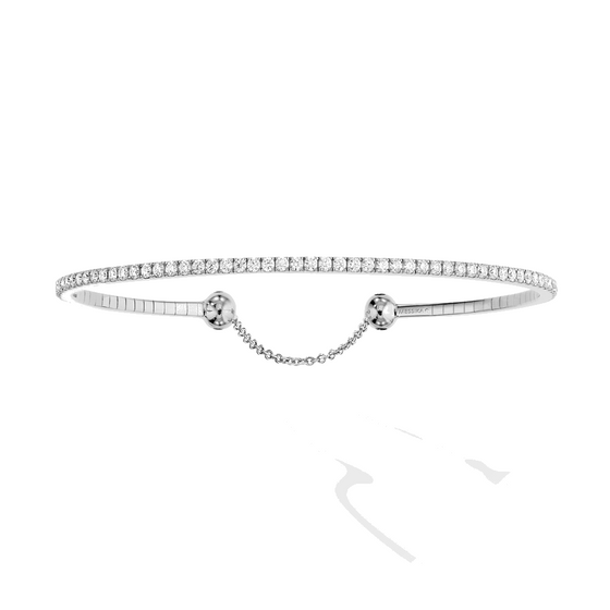Bracelet Diamond White Gold Skinny 1,8ct