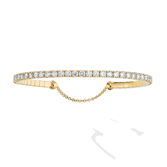 Bracelet Diamond Yellow Gold Skinny 3,1ct