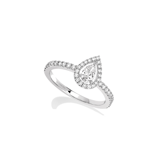Ring Diamond White Gold Joy Diamant Poire 0,25ct