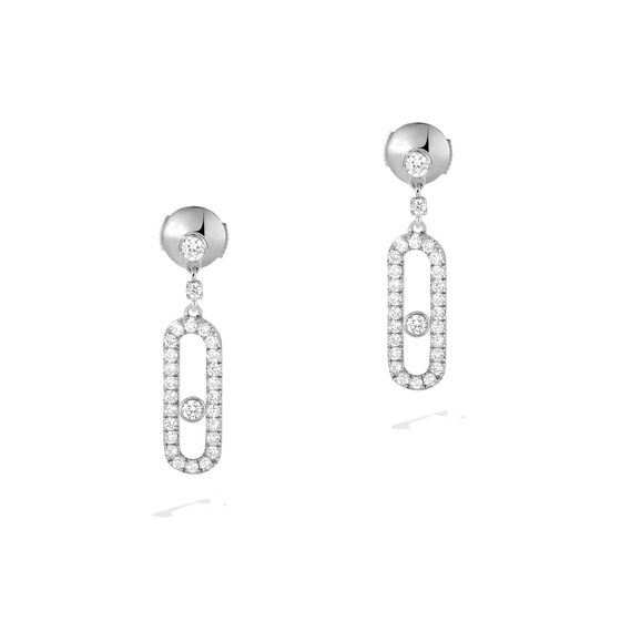 Earrings Diamond White Gold Move Uno Stud