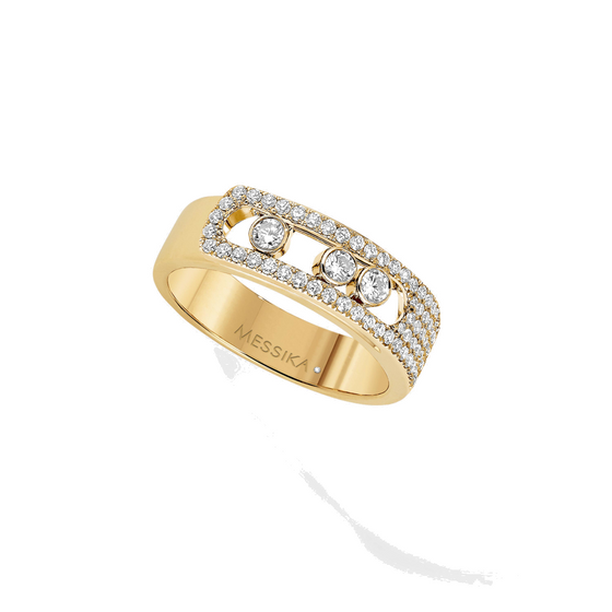 Ring Diamond Yellow Gold Move Noa Pavé