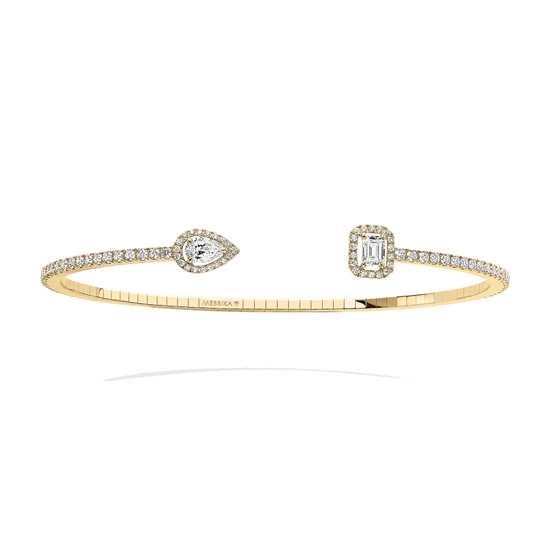 Bracelet Diamond Yellow Gold My Twin Skinny 0,15ct X2