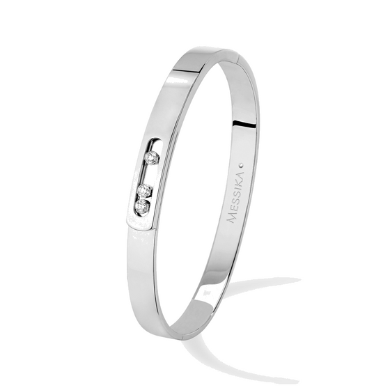 Bracelet Diamond White Gold Move Noa Bangle