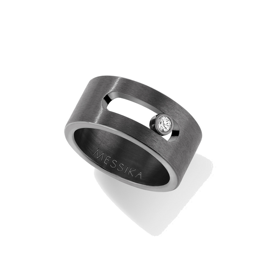 Ring Diamond Graphite Titanium Move Titanium Graphite