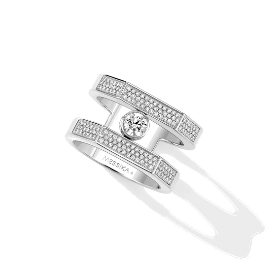 Ring Diamond White Gold Move Pei Pavé